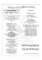 English Worksheets: SONG ABOUT EVIRONMENTAL ISSUES- HEAL THE WORLD BY Michael Jackson
