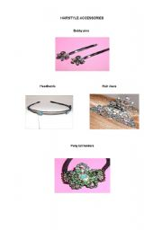 English Worksheet: Hairstyle Accessories