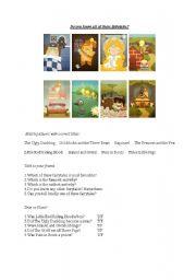 English Worksheets: FairyTales Jam