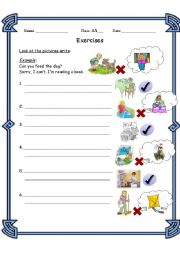 English worksheet: Can- asking for help