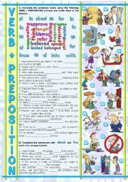 English Worksheet: VERB + PREPOSITION