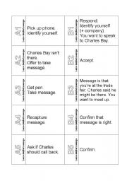 The Ultimate Telephoning Challenge Cards Phone Calls Leave Detailed Message Business English Role Play Cards Esl Worksheet By Blunderbuster