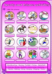 English Worksheet: Sports and leisure activities