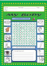 English Worksheets: The Human Body