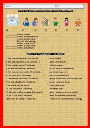 English worksheets: BODY AILMENTS Y REMEDIES