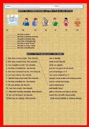 English Worksheet: BODY AILMENTS Y REMEDIES
