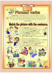 English Worksheet: phrasal verbs 1