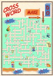 English Worksheet: Make and Do Crossword