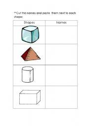 math worksheet : english teaching worksheets 3d shapes : 3d Shapes Worksheet Kindergarten