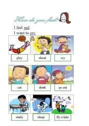 English Worksheets: How do you feel?