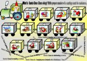 English worksheet: Santa Claus in the train