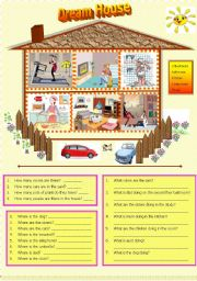 English Worksheets: Dream House - WH questions