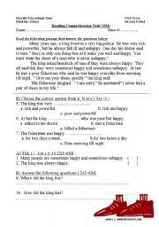 English Worksheets: The poor man