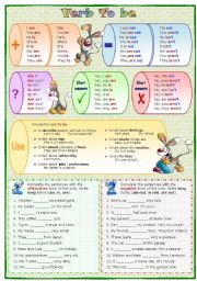English Worksheet: Verb To be: Present
