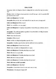 basic play script for little red riding hood