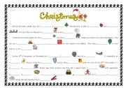 English Worksheets: Christmas reading activity