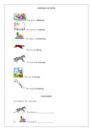 English Worksheet: Animals actions