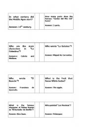 English Worksheets: Trivia Questions Art and Literature.