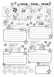 English Worksheet: TOYS (have got / has got)
