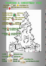 English worksheet: Painting the Christmas Tree