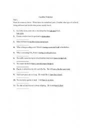 english worksheets causitive worksheet. Black Bedroom Furniture Sets. Home Design Ideas