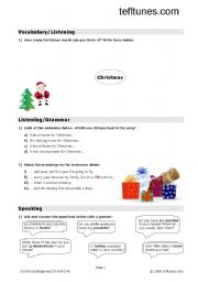 English Worksheet: Christmas Song - Driving Home For Christmas (Pre Intermediate)