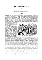 English Worksheets: The brave tin soldier by Ch. Andersen