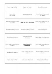 English Worksheets: category cards