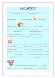 English worksheet: past simple exercise