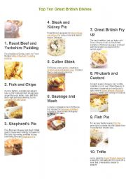 British and American dishes