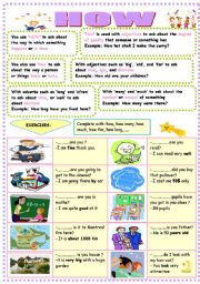 English Worksheets: how