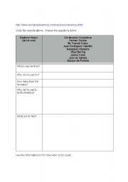 English Worksheets: Explorer Letter activity.