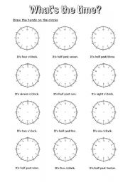 worksheet: What´s the time? 7