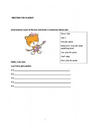 English Worksheets: Write about ��t�r