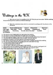 English Worksheet: Weddings in the UK