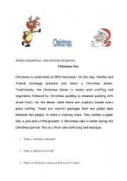 English Worksheets: Christmas_reading