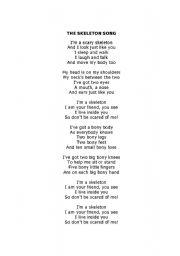 English Worksheets: Skeleton song