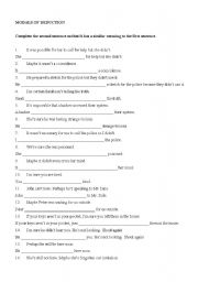 English Worksheet: MODALS OF DEDUCTION