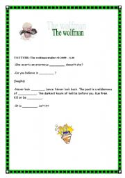 English Worksheets: The Wolfman Movie Traile Preview (3/3)