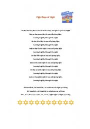 English Worksheets: Hannukah: three resources.