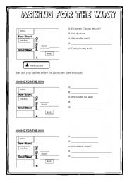 English Worksheet: Asking for the way