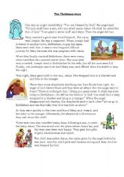 ESL Worksheets for adults: The Christmas Story