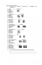English worksheet: Comparative and Superlative Adjectives