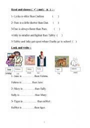 English Worksheets: coparison