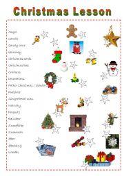 english worksheet a christmas lesson. Black Bedroom Furniture Sets. Home Design Ideas