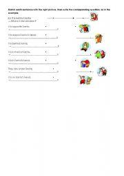 English Worksheets: Where is Santa? Make questions.