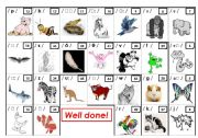 animals and phonetics - a game PAGE 1