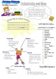 English Worksheet: The Writing Process Part 1: Brainstorming Your Ideas. 3 Pages.