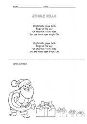 English Worksheet: Jingle Bells Christmas song