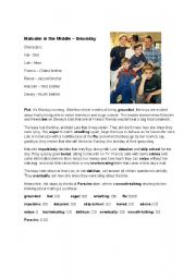 English Worksheet: Malcolm in the Middle - Smunday